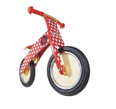 Kiddimoto Kurve Red Dotty Laufrad