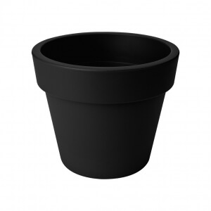 Elho green basics top planter 23  lebhaft schwarz