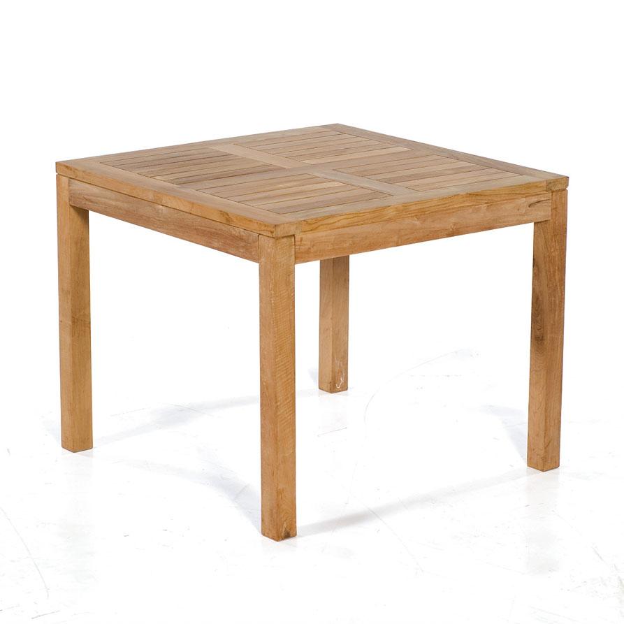 Teakholz Gartenmobel Outlet : Sunny Smart Tisch, quadratisch Wellington Teak