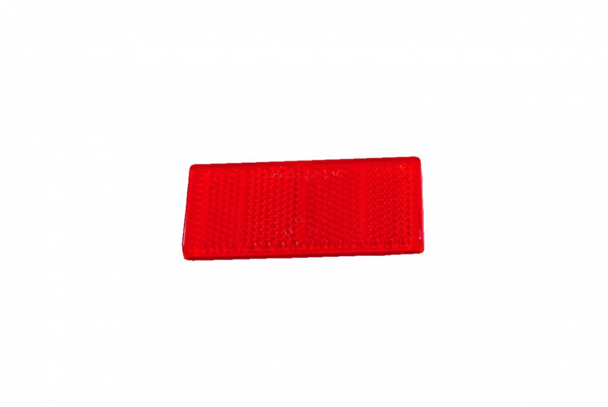 Bünte Rückstrahler Aspöck, rot 69x31,5mm mit Klebefolie