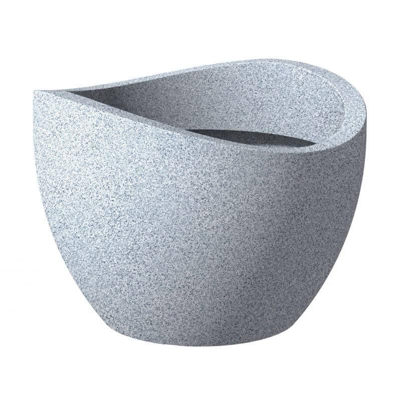 Scheurich Pflanzgefäß 250 Wave Globe Weiß-Granit 30 cm