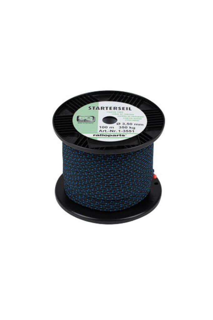 starterseil seilzug 3 5 mm x 100 m blau f r motors gen ebay. Black Bedroom Furniture Sets. Home Design Ideas