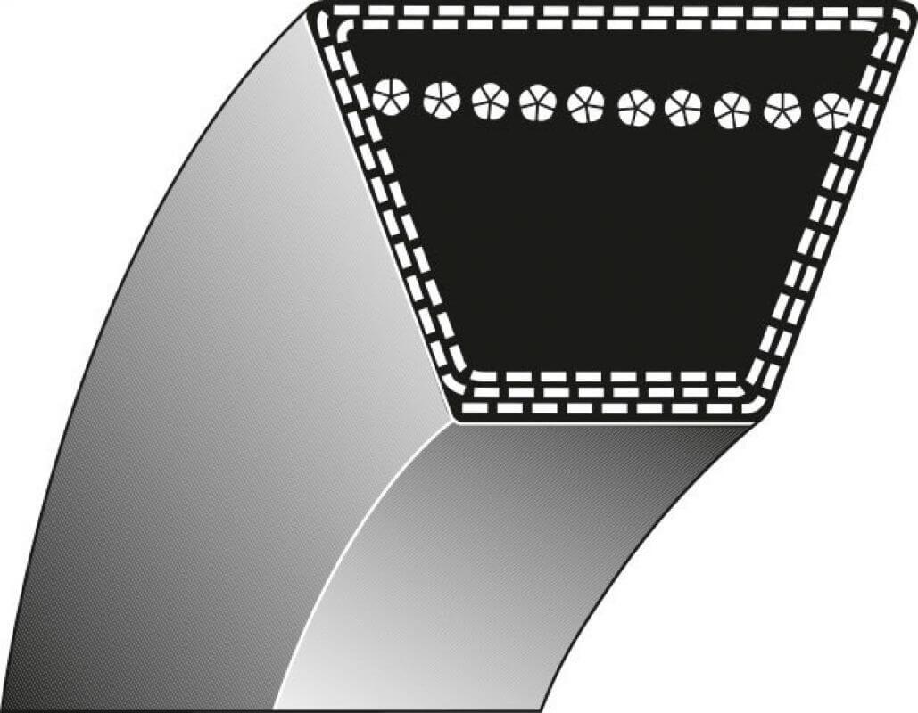 Keilriemen Typ 1 – 12,7 x 2425,7 für Aufsitzmäher Rasentraktor