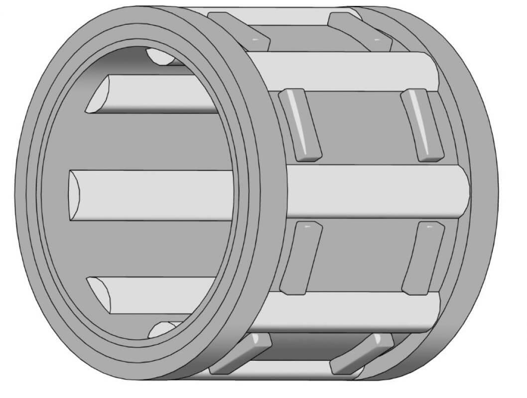 Nadellager für Kettenräder Innen-Ø 8 mm, Außen-Ø 12 mm, Höhe 10 mm