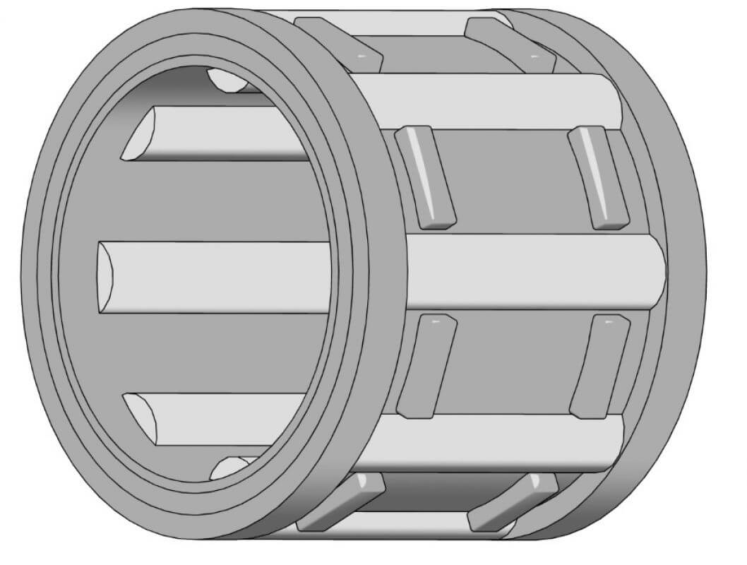 Nadellager für Kettenräder Innen-Ø 11 mm, Außen-Ø 14 mm, Höhe 12 mm