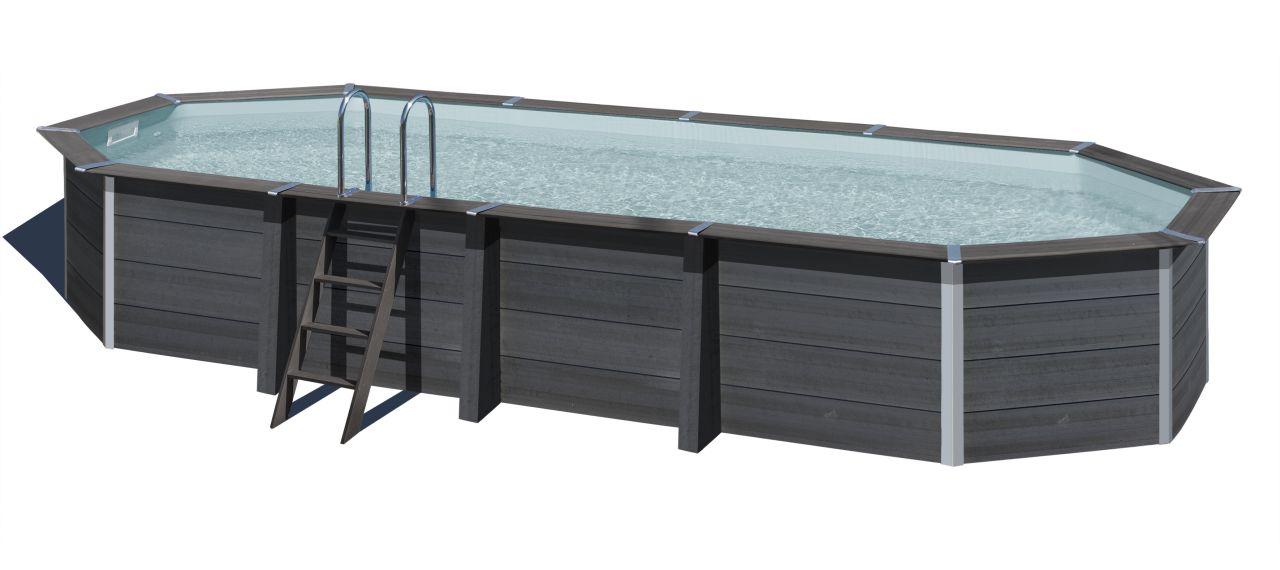 Hammerkauf DE GRE Composite Pool KPCOV80 804 x 368 cm, 124 cm hoch Schwimmbecken