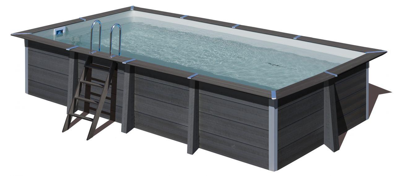 Gre Composite Pool 606 x 326 x 124 cm rechteck Avantgarde WPC Pool