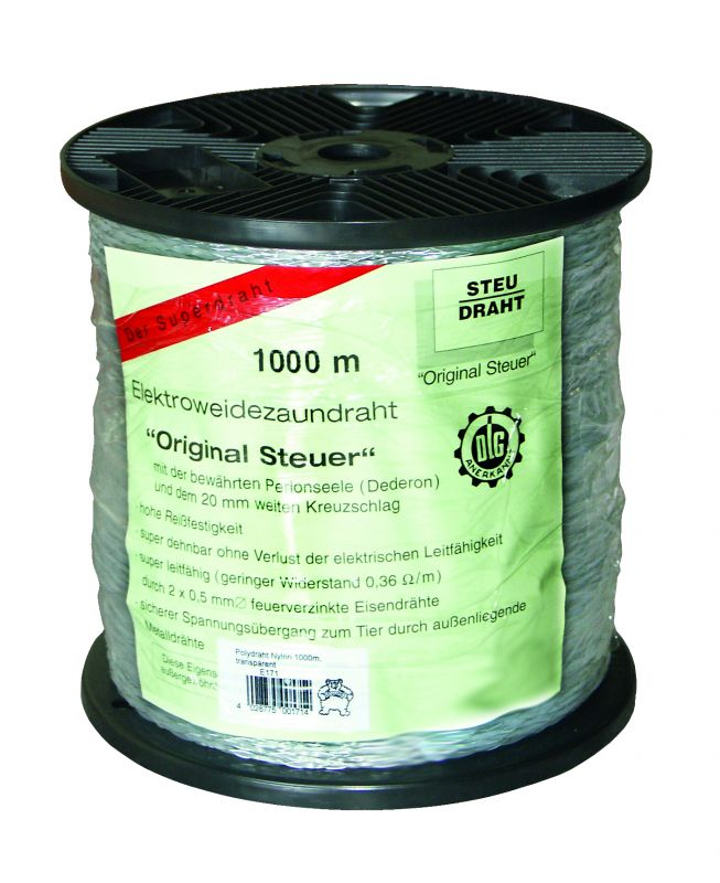 500m Polydraht Monolitze Spanndraht Weidezaundraht Elektrozaun Polylitze Draht