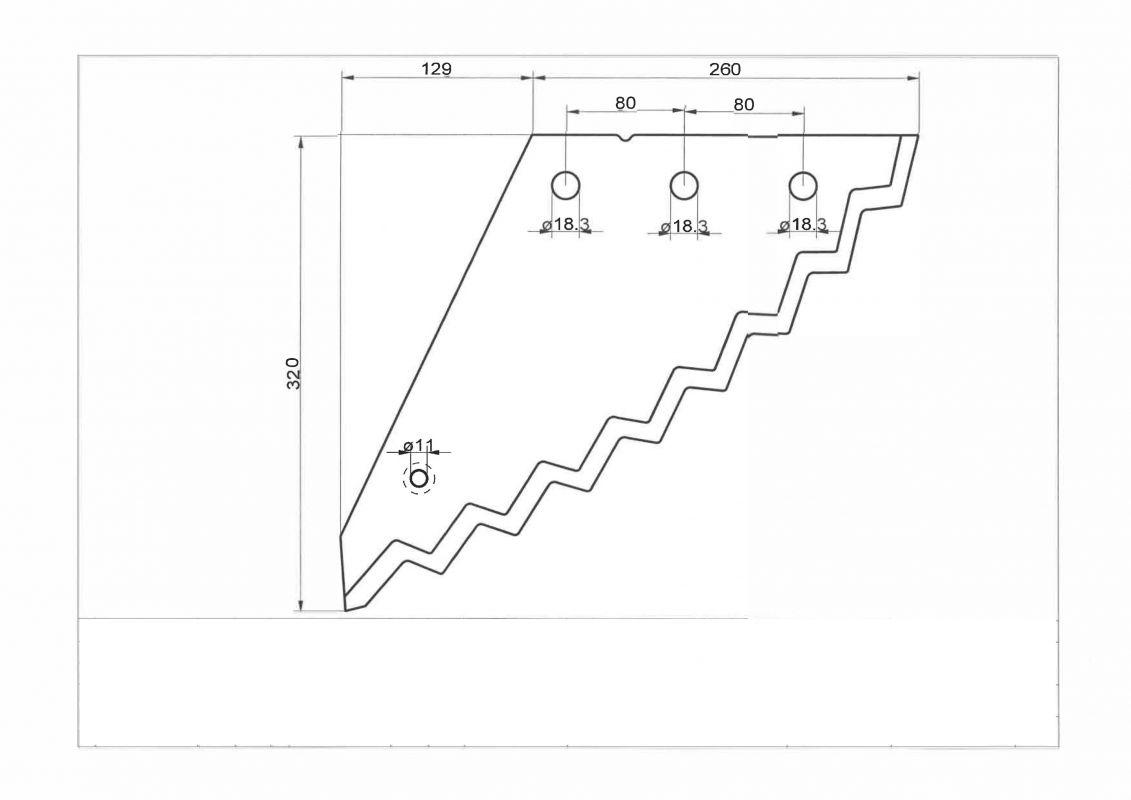 Futtermischwagenmesser p.f. STRAUTMANN ersetzt OE-Nr.: 60903508