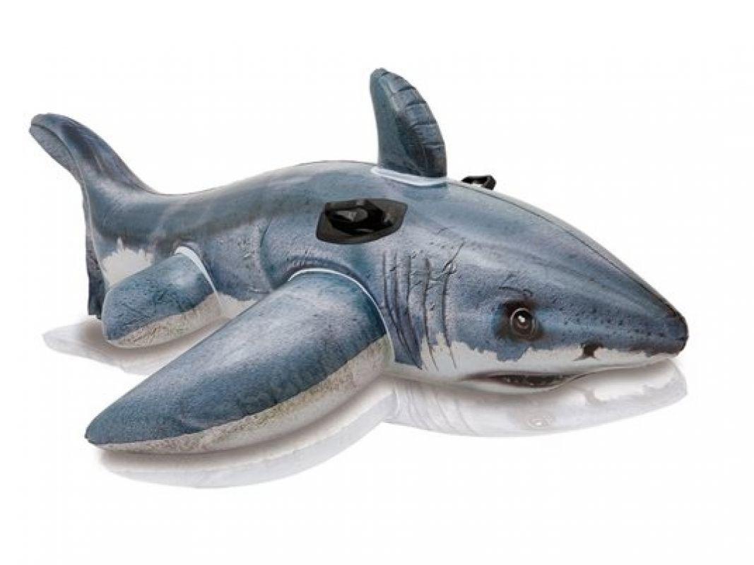 Aufblasbarer Hai mit Griffen 173 x 107 cm