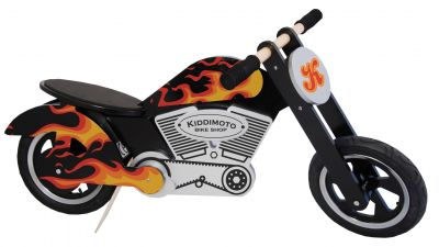 Kiddimoto Chopper Flammen Design Laufrad