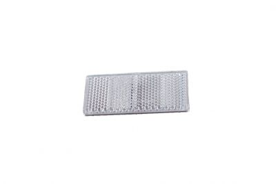 Bünte Rückstrahler Aspöck, weiß 69x31,5mm mit Klebefolie