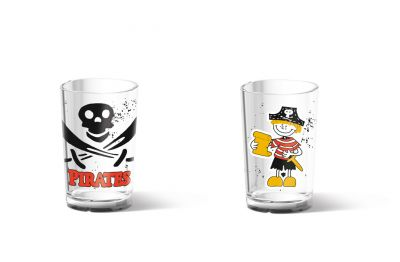 Emsa PIRATE Kinderglas, Transparent, 0,2 L