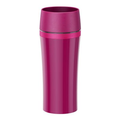 Emsa TRAVEL MUG FUN Isolierbecher, Himbeer/Rosa, 0,36 L