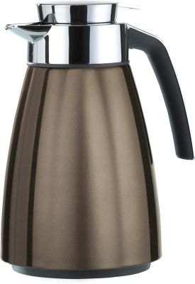 Emsa BELL Isolierkanne Quick Tip, Chocolate metallic, 1,0 L