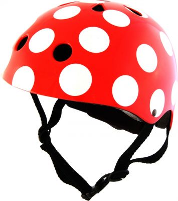 Kiddimoto Helm Red Dotty M, Gr��e 53-58 cm