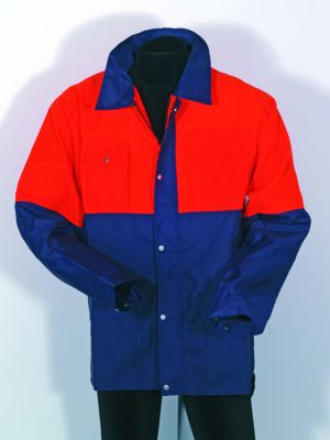 Forstjacke navy/orange Größe 58/60
