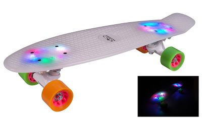 Hudora Skateboard Retro Rainglow