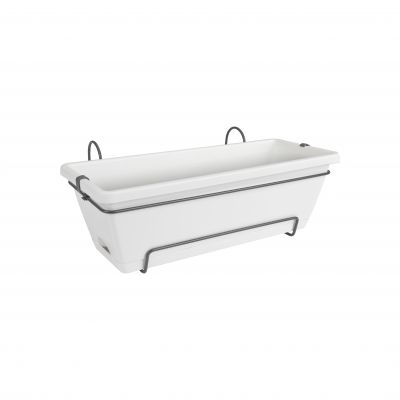Elho Barcelona trough all-in-1 50 weiss Blumenkasten