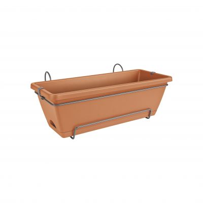 Elho Barcelona trough all-in-1 50 tonrot Blumenkasten